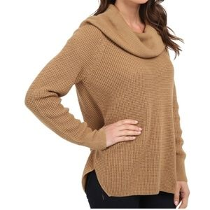 MICHAEL Michael Kors Waffle Knit Cowl Neck Sweater